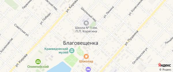 Улица Ленина на карте поселка Благовещенки с номерами домов
