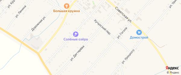 Улица Дегтярева на карте поселка Благовещенки с номерами домов