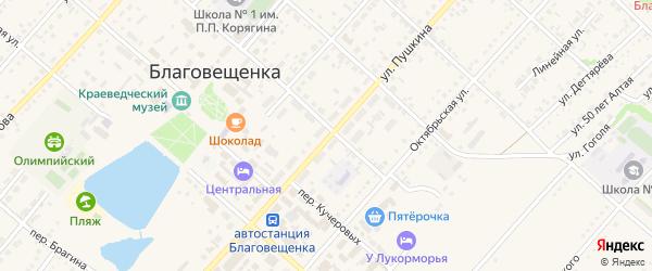 Улица Пушкина на карте поселка Благовещенки с номерами домов