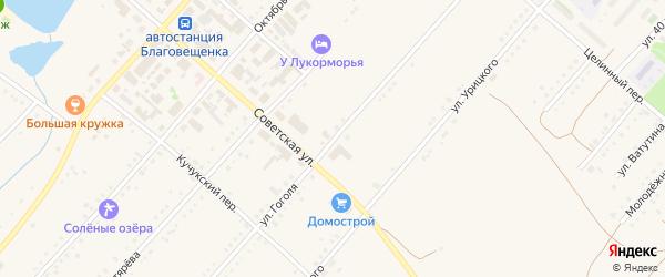 Улица Гоголя на карте поселка Благовещенки с номерами домов