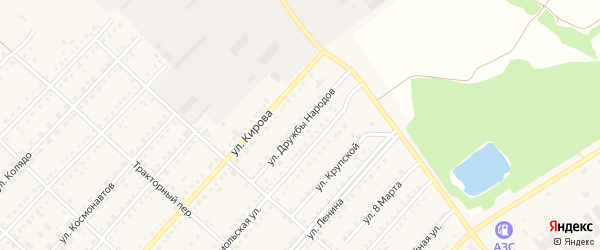 Улица Дружбы Народов на карте поселка Благовещенки с номерами домов