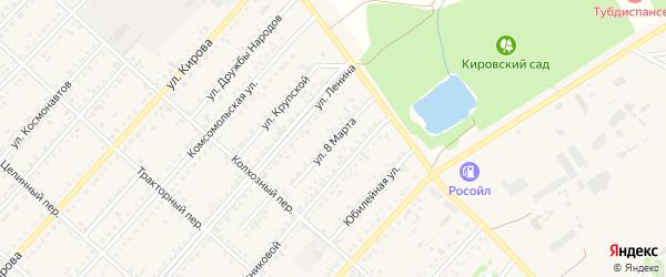 Улица 8 Марта на карте поселка Благовещенки с номерами домов