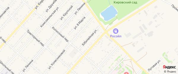 Юбилейная улица на карте поселка Благовещенки с номерами домов