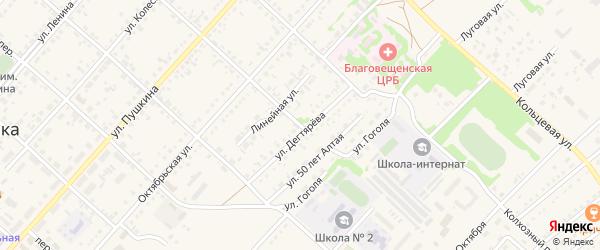 Тракторный переулок на карте поселка Благовещенки с номерами домов