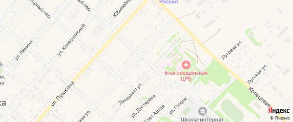 Колхозный переулок на карте поселка Благовещенки с номерами домов