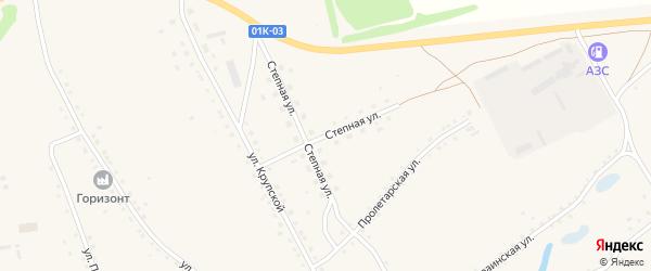 Степная улица на карте села Ракиты с номерами домов