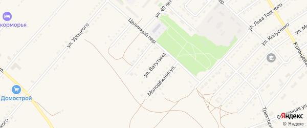 Улица Ватутина на карте поселка Благовещенки с номерами домов