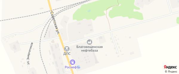 Нефтебазовская улица на карте поселка Благовещенки с номерами домов