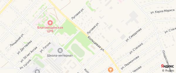 Кольцевая улица на карте поселка Благовещенки с номерами домов