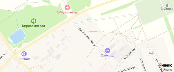 Промышленная улица на карте поселка Степного Озера с номерами домов