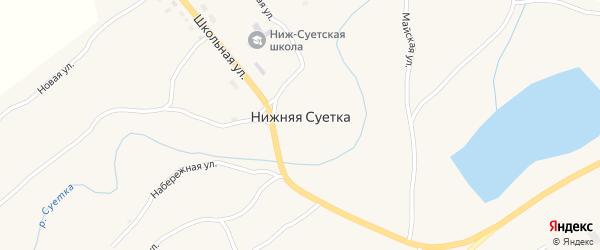 Улица Мазанько на карте села Нижней Суетки с номерами домов