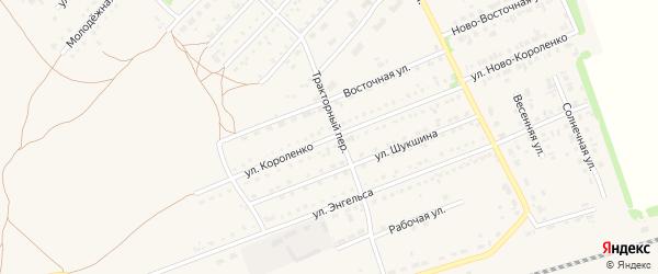 Улица Короленко на карте поселка Благовещенки с номерами домов