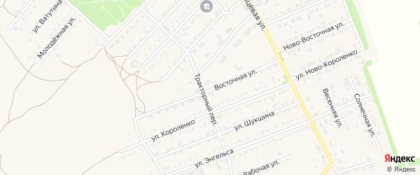 Восточная улица на карте поселка Благовещенки с номерами домов