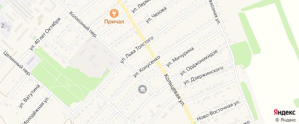 Улица Конусенко на карте поселка Благовещенки с номерами домов