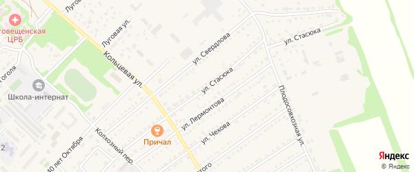 Улица Стасюка на карте поселка Благовещенки с номерами домов