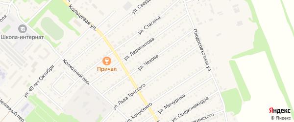 Улица Чехова на карте поселка Благовещенки с номерами домов