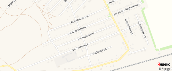 Улица Шукшина на карте поселка Благовещенки с номерами домов