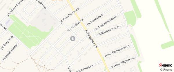 Улица Орджоникидзе на карте поселка Благовещенки с номерами домов
