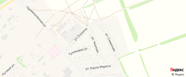 Улица Чкалова на карте поселка Благовещенки с номерами домов