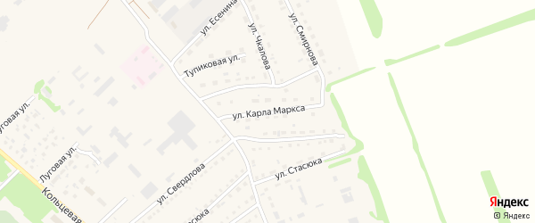 Улица К.Маркса на карте поселка Благовещенки с номерами домов
