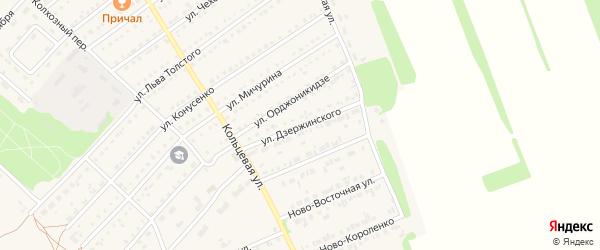 Улица Дзержинского на карте поселка Благовещенки с номерами домов