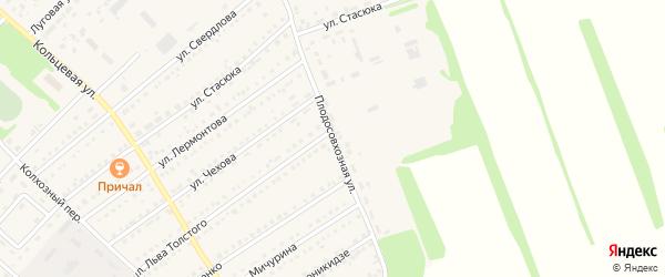 Плодосовхозная улица на карте поселка Благовещенки с номерами домов