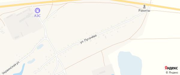 Улица Пугачёва на карте села Ракиты с номерами домов