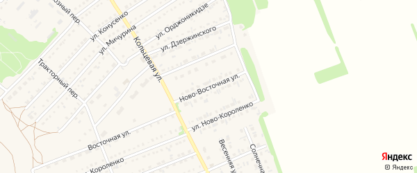 Новая улица на карте поселка Благовещенки с номерами домов