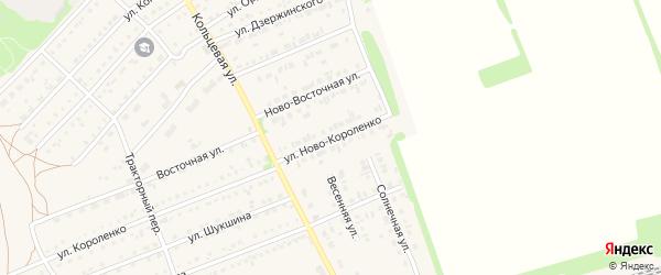 Улица Ново-Короленко на карте поселка Благовещенки с номерами домов