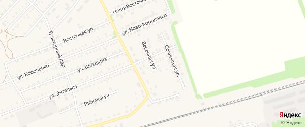 Весенняя улица на карте поселка Благовещенки с номерами домов
