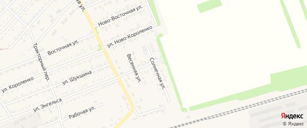 Солнечная улица на карте поселка Благовещенки с номерами домов