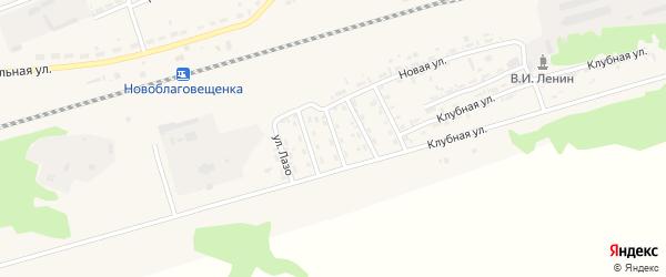 Улица Калинина на карте поселка Благовещенки с номерами домов