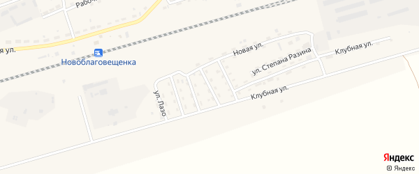 Интернациональная улица на карте поселка Благовещенки с номерами домов