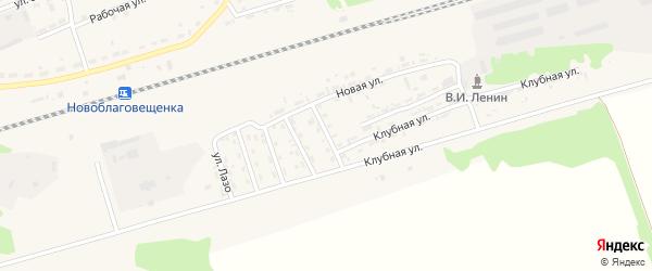 Пионерская улица на карте поселка Благовещенки с номерами домов