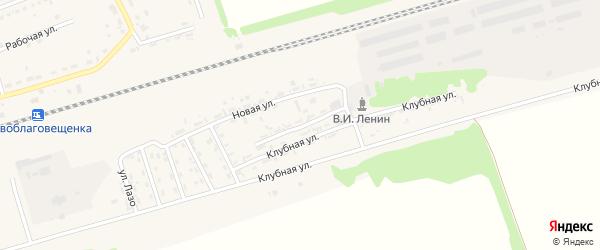 Улица С.Разина на карте поселка Благовещенки с номерами домов