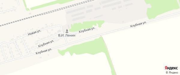 Клубная улица на карте поселка Благовещенки с номерами домов