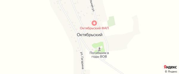 Южная улица на карте Октябрьского поселка с номерами домов