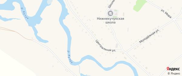 Центральная улица на карте садового некоммерческого товарищества N 12 с номерами домов