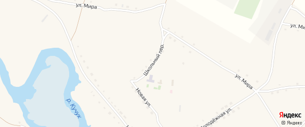 Школьный переулок на карте села Нижнего Кучука с номерами домов