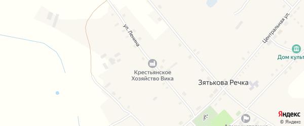 Улица Ленина на карте села Зятьковой Речки с номерами домов