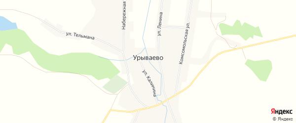 Карта села Урываево в Алтайском крае с улицами и номерами домов