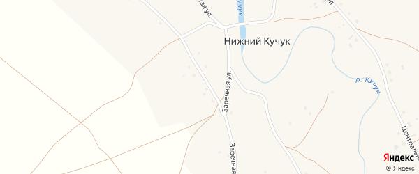 Заречная улица на карте села Нижнего Кучука с номерами домов