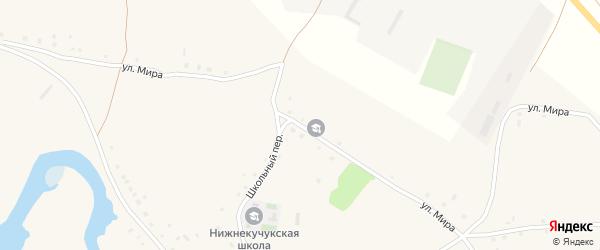 Улица Мира на карте села Нижнего Кучука с номерами домов