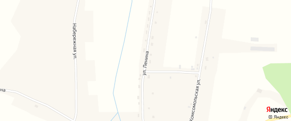 Улица Ленина на карте села Урываево с номерами домов