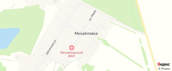 Целинная улица на карте поселка Михайловки с номерами домов