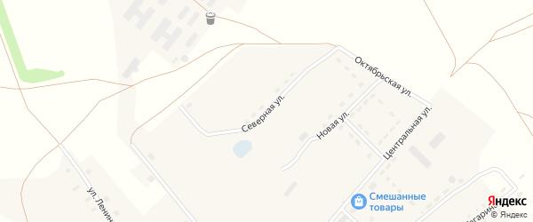 Северная улица на карте села Зятьковой Речки с номерами домов