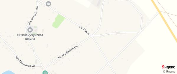 Молодежная улица на карте села Нижнего Кучука с номерами домов