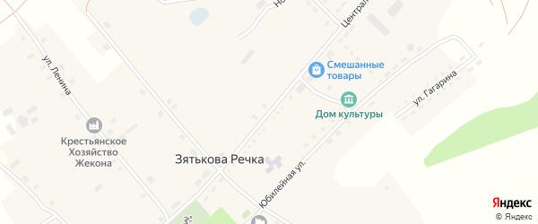 Центральная улица на карте села Зятьковой Речки с номерами домов