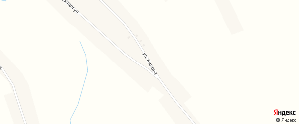 Улица Кирова на карте села Зятьковой Речки с номерами домов