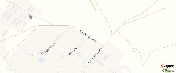 Октябрьская улица на карте села Зятьковой Речки с номерами домов